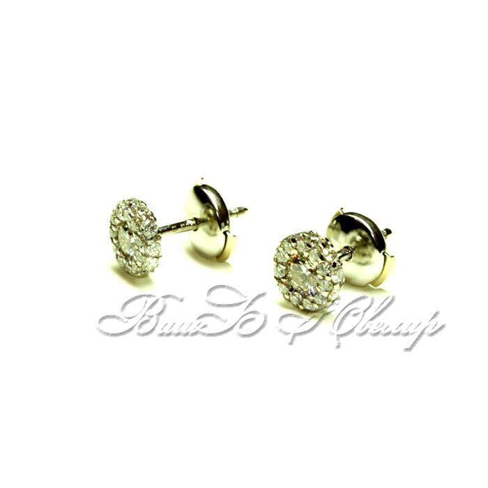 Пусеты с бриллиантами якутские бриллианты